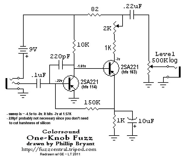 Unwanted Gating  Note Decay On Colorsound 1 Knob Fuzz Build