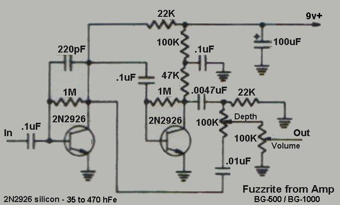 Fuzzrite from a Mosrite amp...