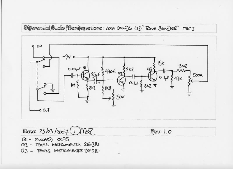 Fuzz 20and 20Fuzzy 20Noisemakers as well Schemview besides Schematics moreover 2 in addition Everyday Electronics. on tone bender schematic